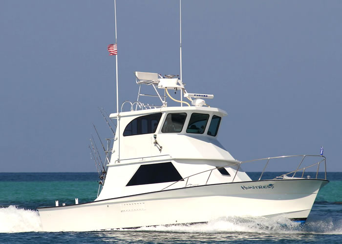 destin florida charter boat fishing the huntress